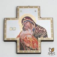 [직수입] 십자가 이콘_도움성모 (15cm)